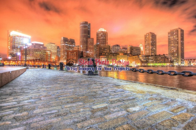Beautiful-Boston-Cityscape-at-Hight-in-HDR