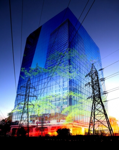 Montage Photo de Concept Electricite