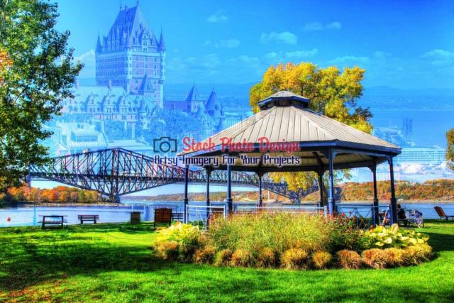 Quebec-City-Park-Photo-Montage Image