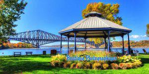Parc près du vieux pont de Québec