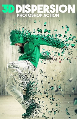 3d Dispersion Photoshop Effect