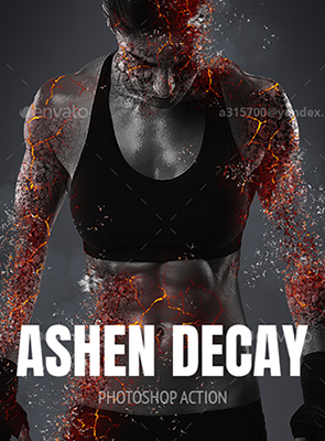 Ashen Decay Photoshop Effect