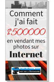 $500000 en vendant mes photos sur Internet.