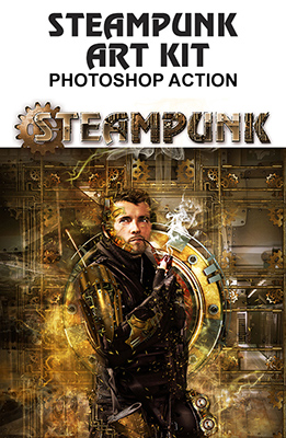 Steampunk Art Kit Photoshop Effect