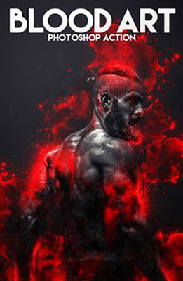 Blood Art Photoshop Effect