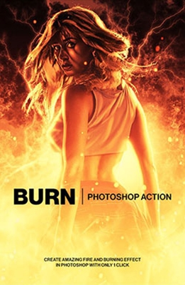 Burn Photoshop Effect