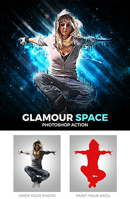Glamour Space Photoshop Effect