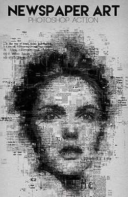 Newspaper Art Photoshop Effect