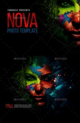 Nova Artistic Photoshop Template
