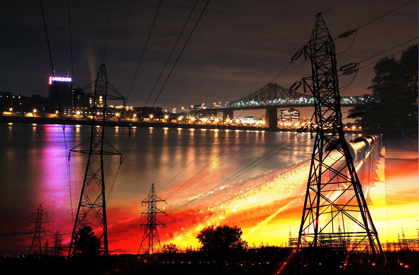 Electrification Urbaine - photo stock