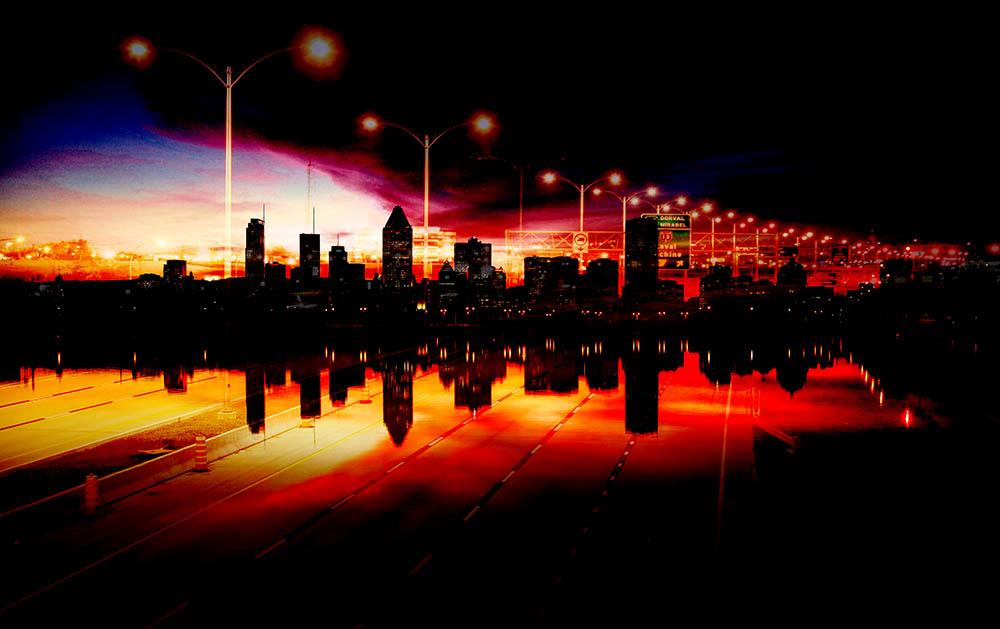 Photo Montage de la ville de Montreal 01 - photo stock
