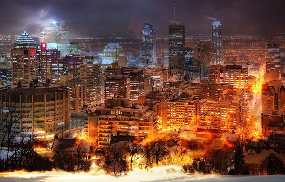 Photo Montage de la ville de Montreal 02 - photo stock
