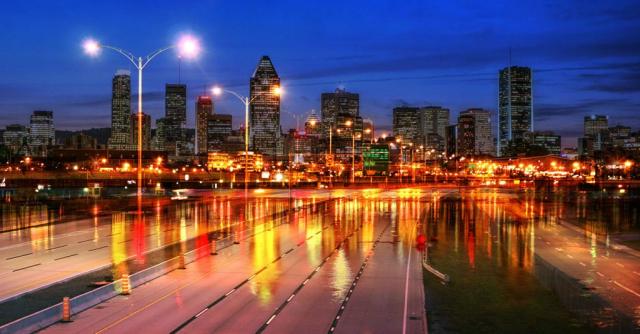 Photo Montage de la ville de Montreal 04 - photo stock