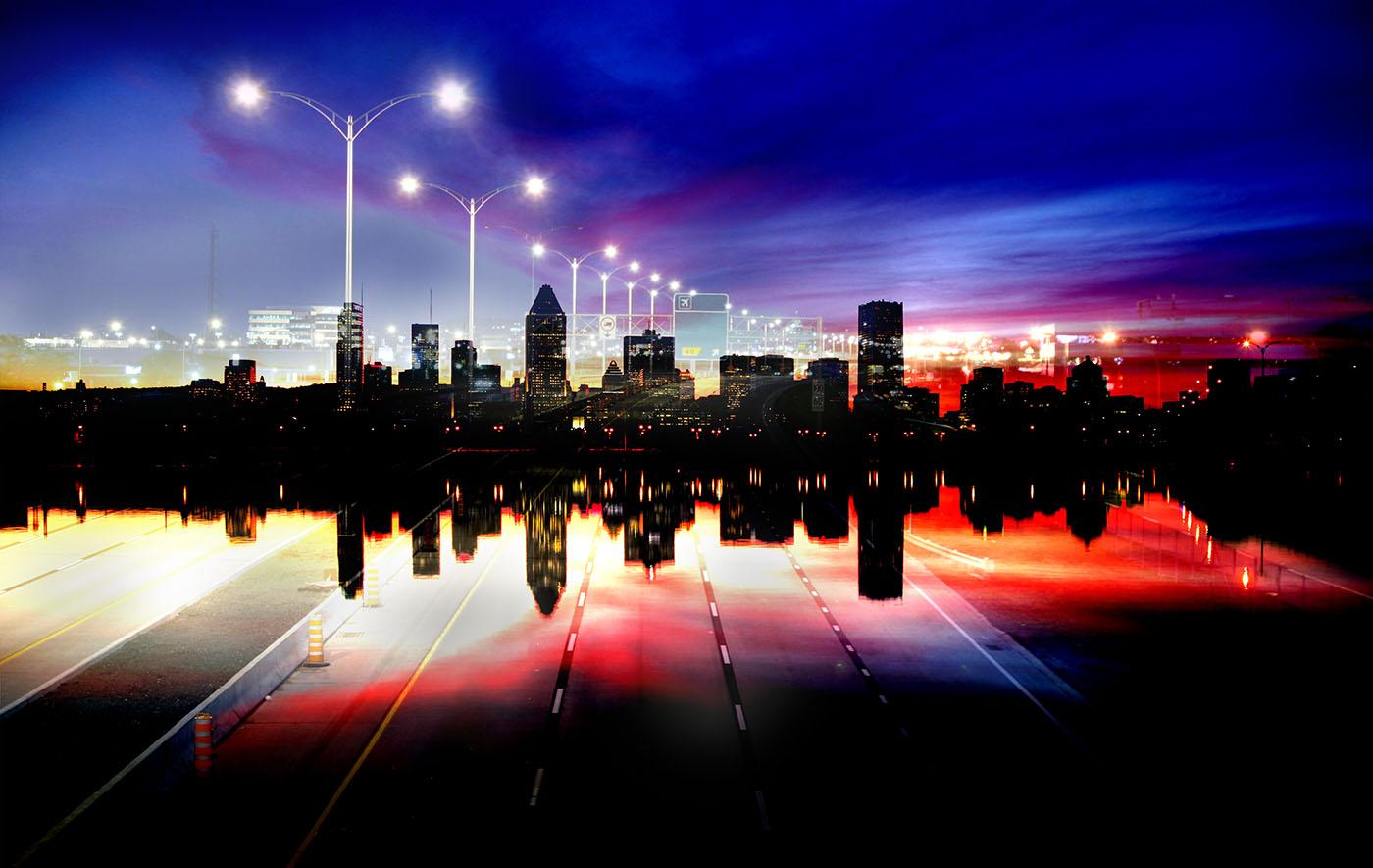 Photo Montage de la ville de Montreal 05 - photo stock