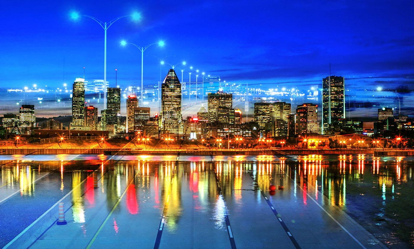 Photo Montage de la ville de Montreal 06 - photo stock