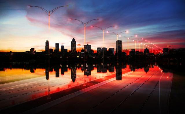 Photo Montage de la ville de Montreal 08 - photo stock