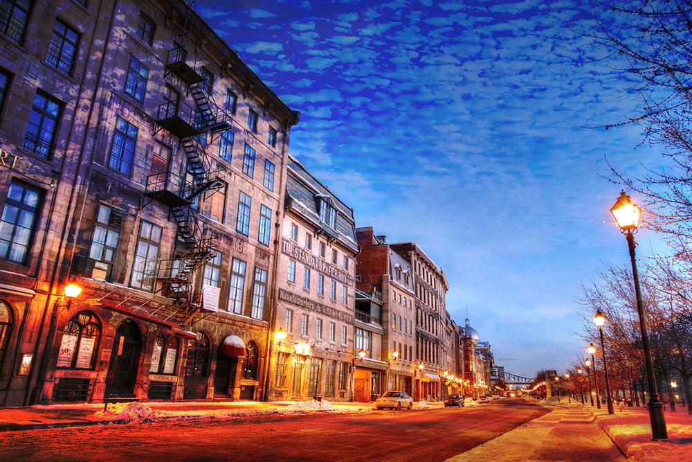 Rue du vieux Montreal 01 - photo stock