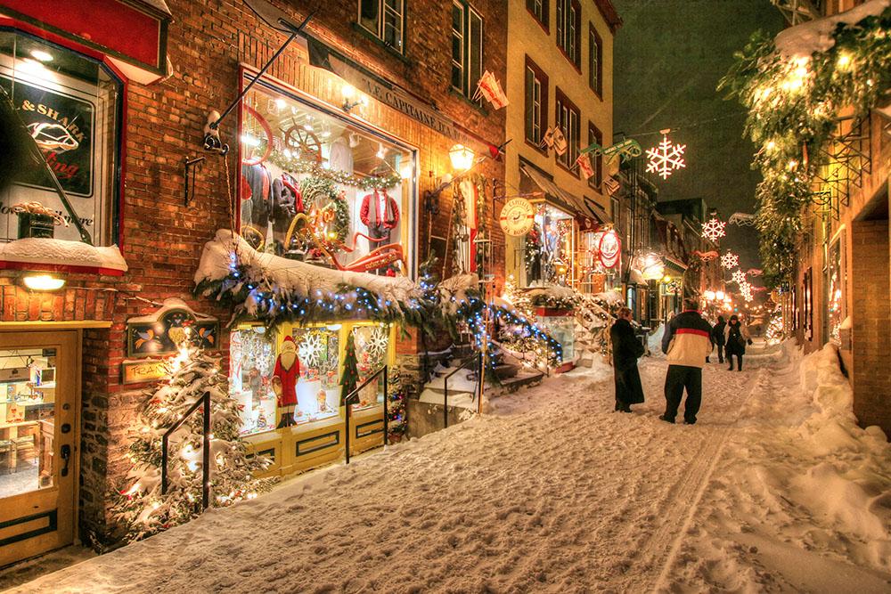 Ruelle du vieux Quebec - photo stock
