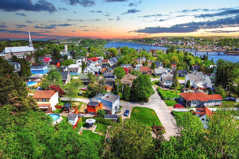 Ville de Saguenay ou Chicoutimi - photo stock