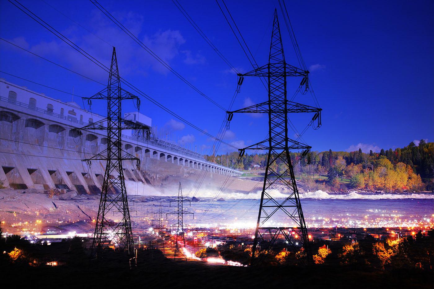Barrage Electrique 01 - photo stock