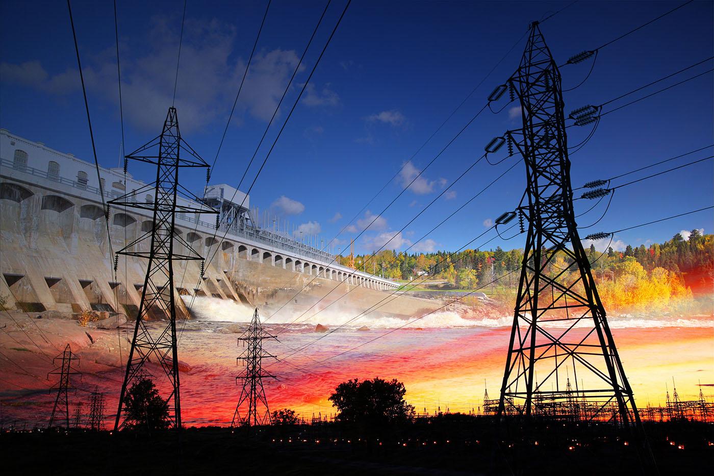 Barrage Electrique 02 - photo stock