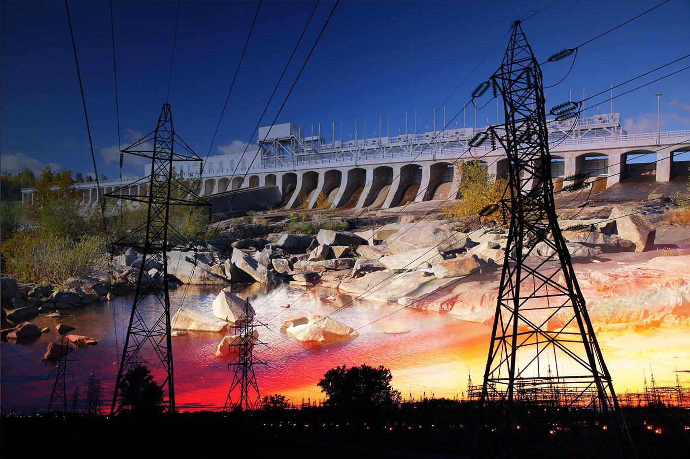Barrage Electrique 03 - photo stock