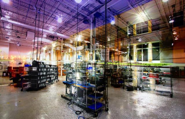 Montage Photo Concept Interieur Industriel - photo stock