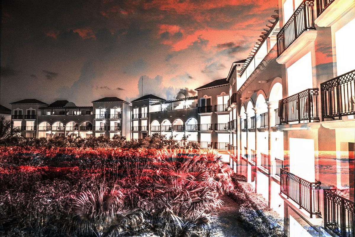 Montage Photo Hotel Tropical - photo stock