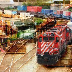 Montage Photo Transport de Marchandise par Train