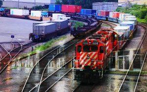 Montage Photo Transport par Train Industriel 01