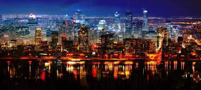Montreal en Double - photo stock