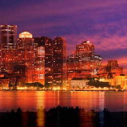 Montage Panoramique Nocturne de Boston 2