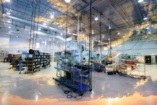 Montage Photo Concept Interieur Industriel 2 - photo stock