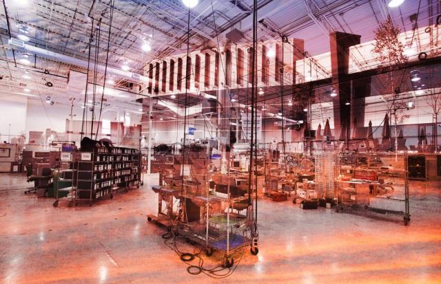 Montage Photo Concept Interieur Industriel 3 - photo stock