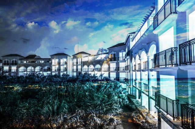 Montage Photo Hotel Bord de Mer 02 - photo stock