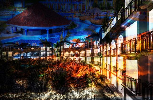 Montage Photo Hotel Bord de Mer 03 - photo stock