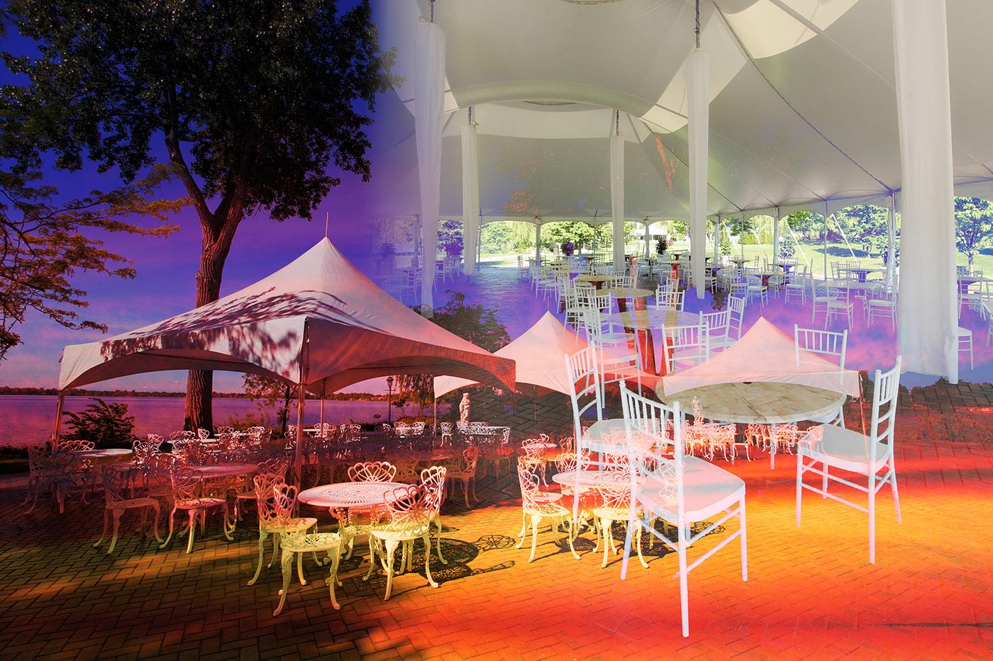 Montage Tente de Celebrations - photo stock