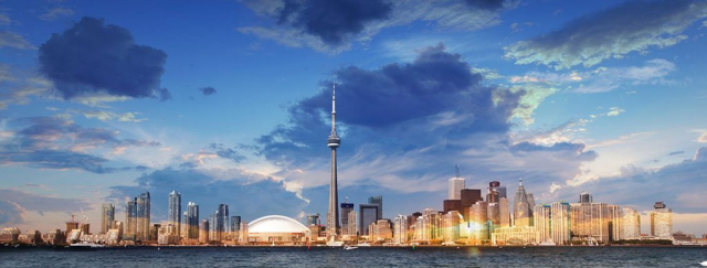 Panorama de jour de Toronto - photo stock