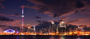 Panorama de nuit de Toronto