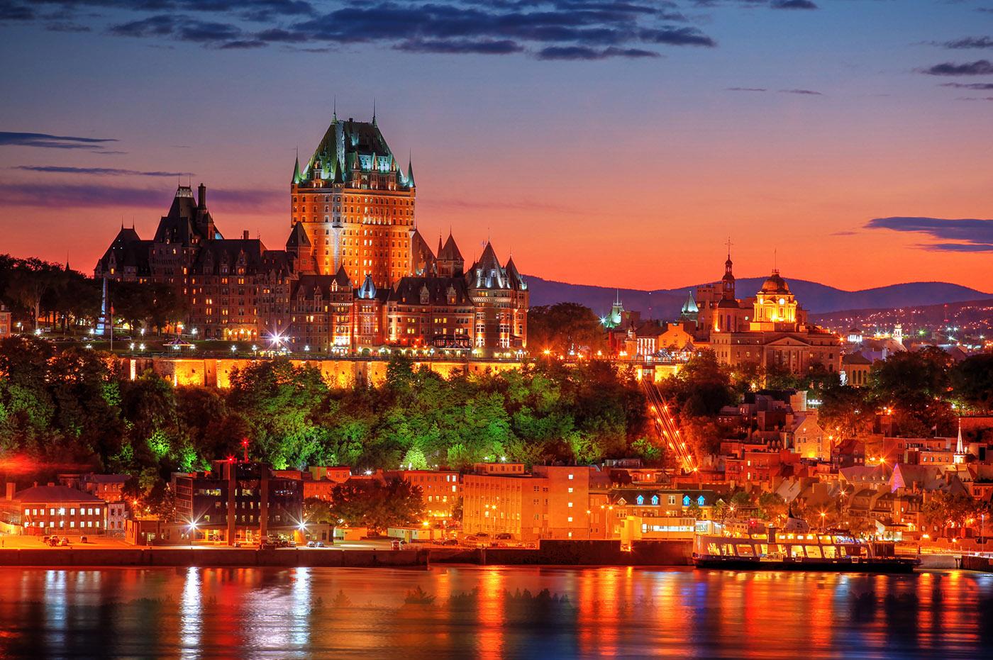 Quebec Chateau Frontenac de Quebec - photo stock
