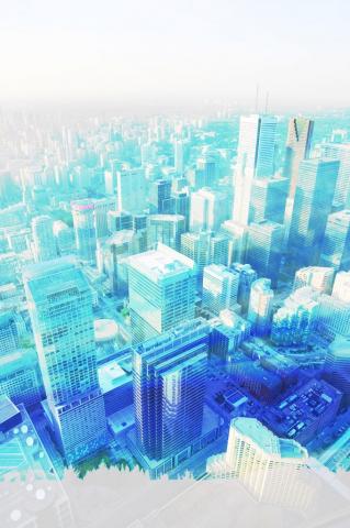 Toronto en hauteur - photo stock