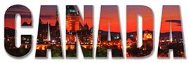 Montage photo du mot Canada