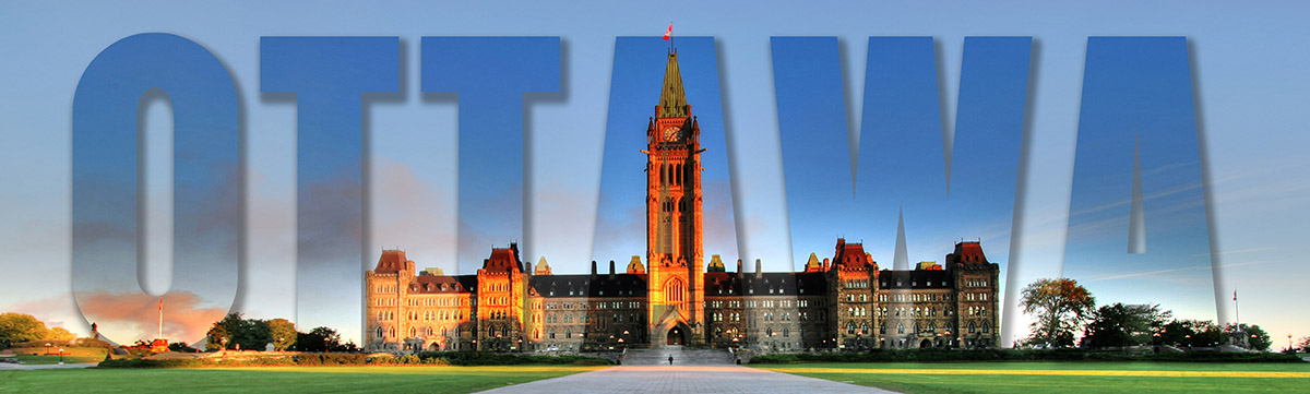 Ottawa Texte et Parlement - photo stock