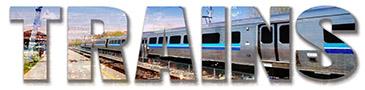 Montage photo du mot Trains