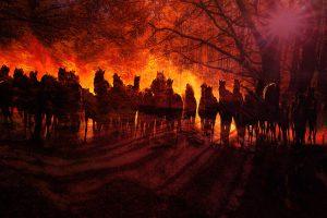 Horde de chevaux fantomatiques dans les bois 01