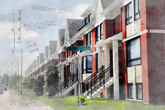 Image Sketch de condos urbains - photo stock