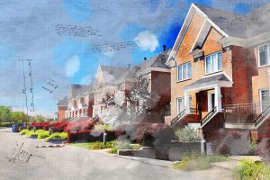 Image Sketch de maisons urbaines