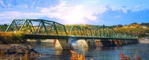 Image du vieux pont de Chicoutimi