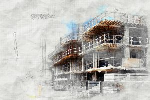 Image sketch de projet de construction
