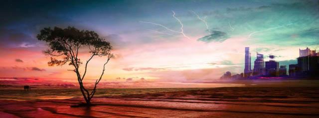 Paysage Apocalyptique - photo stock